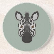 Paper Zebra Sandstone Coaster
