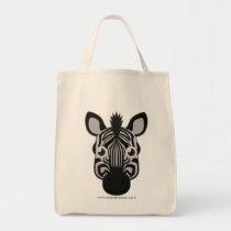 Paper Zebra Tote Bag