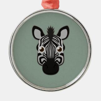 Paper Zebra Metal Ornament