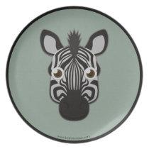 Paper Zebra Plate