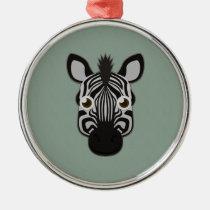 Paper Zebra Premium Round Ornament