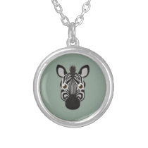 Paper Zebra Silver Necklace