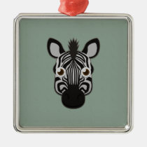 Paper Zebra Premium Square Ornament