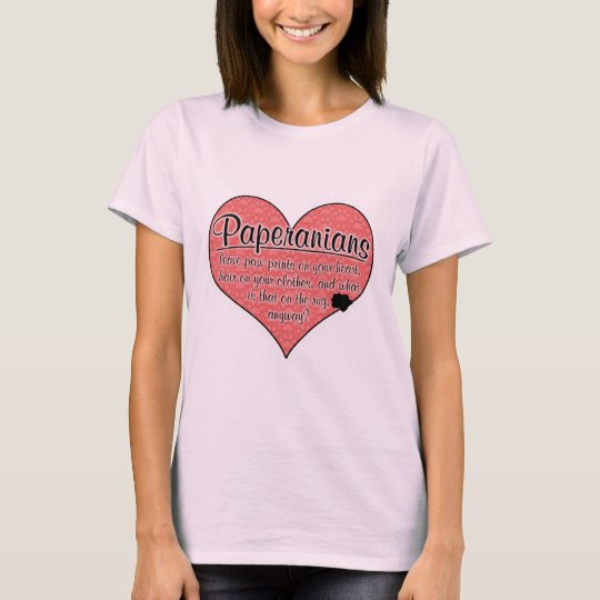 Paperanian Paw Prints Dog Humor T-Shirt
