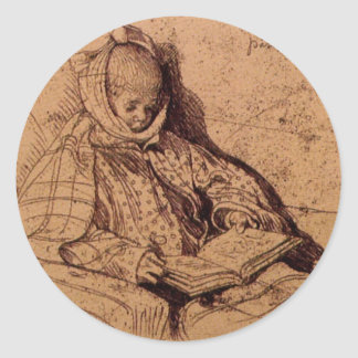 PAPERAS de Carl Larsson Pegatina Redonda