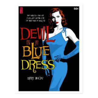Paperback Postcard: Devil In A Blue Dress