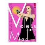 Paperback Postcard: Violets Are Mad