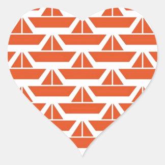 paperBoat Heart Sticker