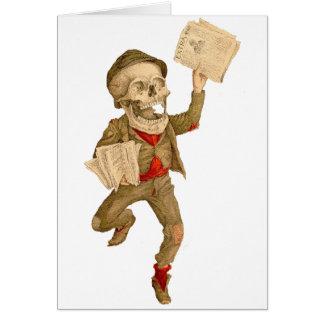 Paperboy esquelético tarjeta