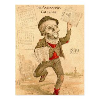 Paperboy esquelético tarjetas postales