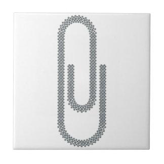 paperclip azulejo cuadrado pequeño