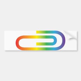 Paperclip Bumpersticker, ventajas del arco iris el Pegatina Para Auto