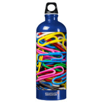 Paperclips Aluminum Water Bottle