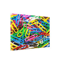 Paperclips Canvas Print