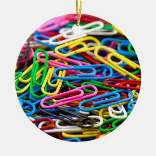 Paperclips Ornamento De Navidad