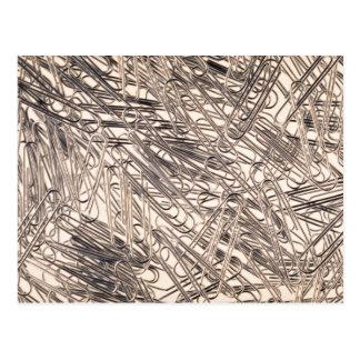 Paperclips para las hojas de papel de sujeción jun tarjeta postal