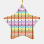 Papercraft colorido: Remiendo del punto del Adorno De Cerámica En Forma De Estrella
