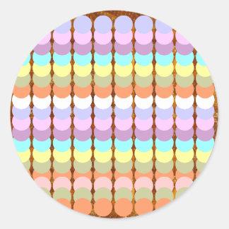 Papercraft colorido: Remiendo del punto del Pegatina Redonda