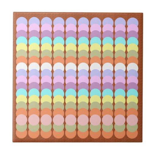 Papercraft colorido: Remiendo del punto del sacado Azulejo Ceramica