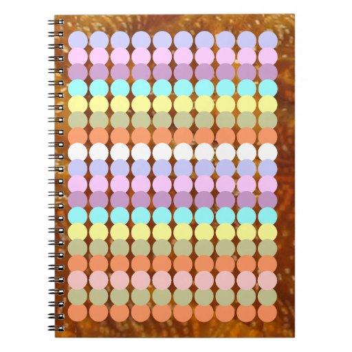 Papercraft colorido: Remiendo del punto del sacado Spiral Notebook