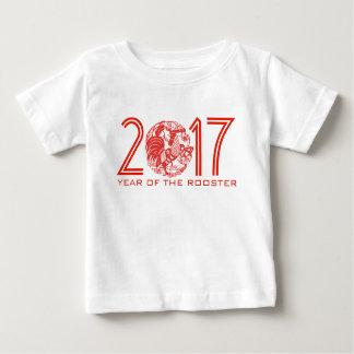 Papercut adaptable B del chino del año 2017 del Playera De Bebé