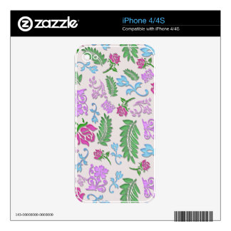 Papercut Floral iPhone 4S Decal