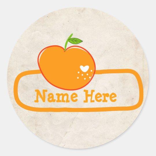 PaperFruit OwnerShip Stickers Orange