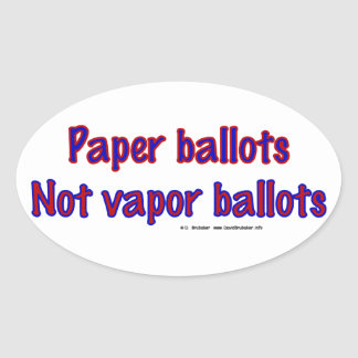 PaperNotVapor Oval Sticker