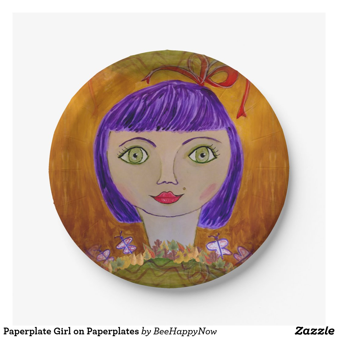 Paperplate Girl on Paperplates Paper Plate