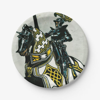 Paperplate with Knight On Horseback design Paper Plate