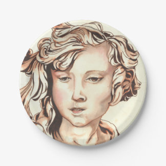 Paperplate with 'Sepiatone Angel' by Cheryl Lee Paper Plate