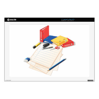 """Papers and other office supplies 17"""" laptop decal"""