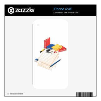Papers and other office supplies skins for the iPhone 4S