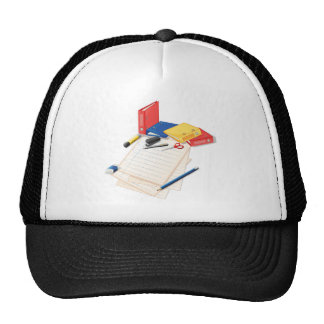 Papers and other office supplies trucker hat
