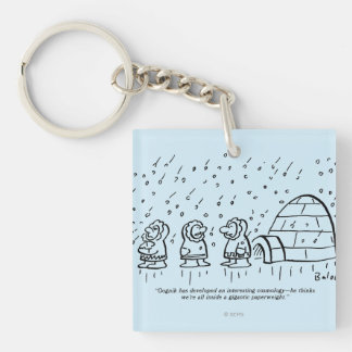Paperweight Double-Sided Square Acrylic Keychain