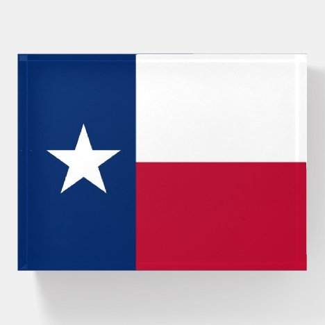 Paperweight with flag of Texas State, USA