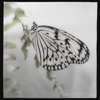Paperwhite Butterfly Napkins