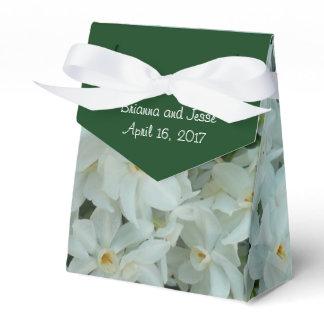 Paperwhite Narcissus Delicate White Flowers Favor Box