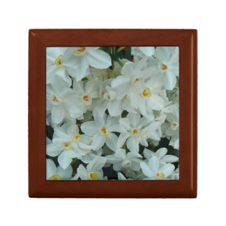 Paperwhite Narcissus Delicate White Flowers Keepsake Box