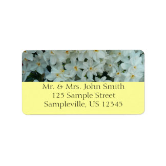 Paperwhite Narcissus Delicate White Flowers Label