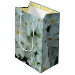 Paperwhite Narcissus Delicate White Flowers Medium Gift Bag