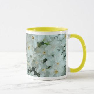 Paperwhite Narcissus Delicate White Flowers Mug