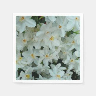Paperwhite Narcissus Delicate White Flowers Napkin