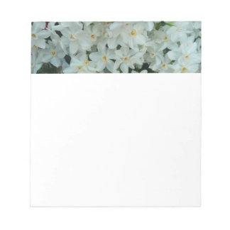 Paperwhite Narcissus Delicate White Flowers Notepad