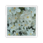 Paperwhite Narcissus Delicate White Flowers Serving Tray