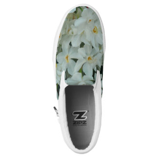 Paperwhite Narcissus Delicate White Flowers Slip-On Sneakers