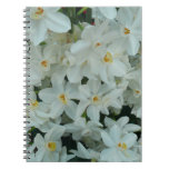 Paperwhite Narcissus Delicate White Flowers Spiral Notebook