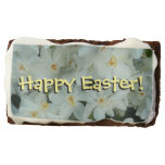Paperwhite Narcissus Happy Easter Chocolate Brownie