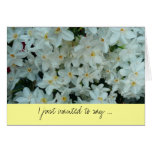 Paperwhite Narcissus Thank You Card