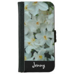 Paperwhite Narcissus White Flowers Personalized iPhone 6 Wallet Case